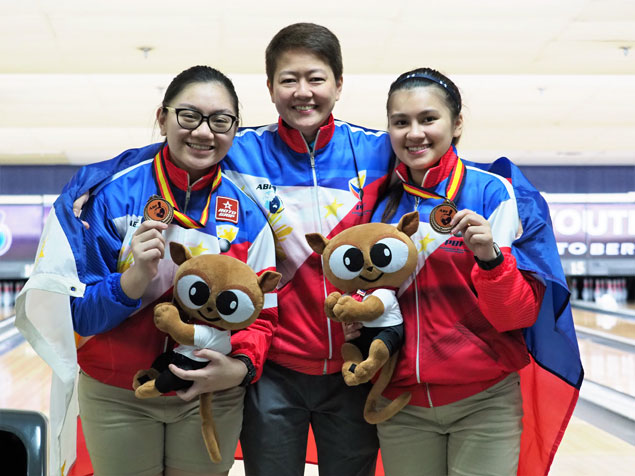 Bea Hernandez, Nina de Vera bag bronze medal in 19th Asian Youth Bowling girls doubles