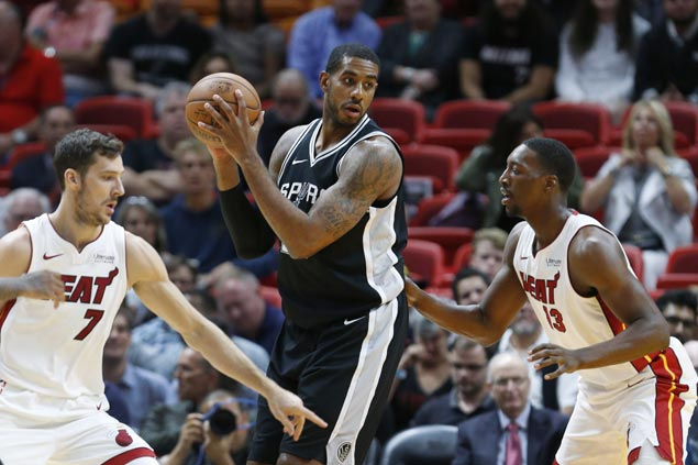 LaMarcus Aldridge sustains fine form and Spurs extend unbeaten run with victory over Heat