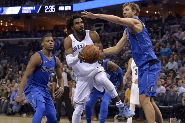 Marc Gasol puts up big numbers, Mike Conley hits biggest shots as Grizzlies get back at Mavs