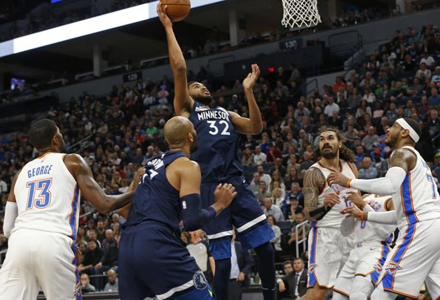 KAT has 33 and 19, Butler returns as Timberwolves down Thunder to halt two-game slide