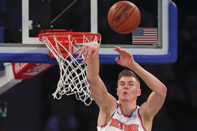 Kristaps Porzingis scores 30 as Knicks beat Nets for first win of season