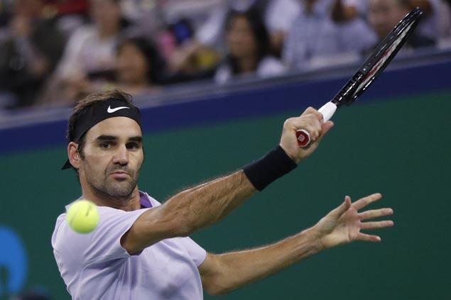 Roger Federer shakes off sluggish start to beat Adrian Mannarino and gain Swiss Indoors semis