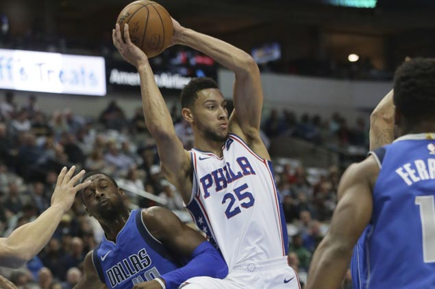 Ben Simmons takes charge as Sixers down Mavs to end long run of futility in Dallas