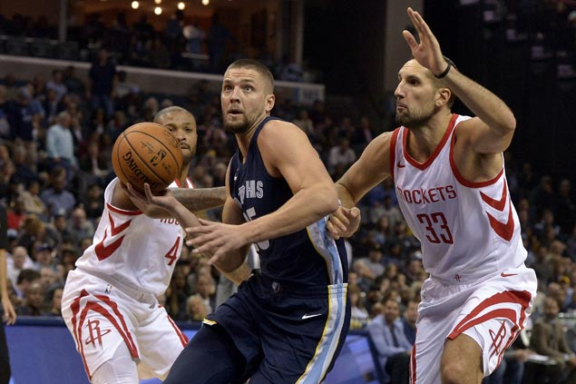 Chandler Parsons leads stunning bench surge as Grizzlies shoot down Rockets