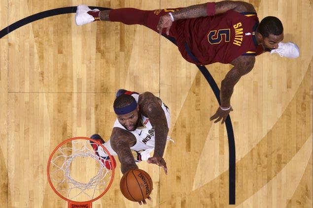 DeMarcus Cousins posts triple double as Pelicans drub struggling Cavaliers