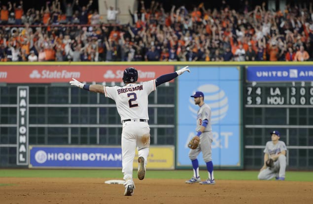 Astros outlast Dodgers in 10-inning Game Five slugfest to take World Series lead