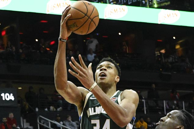 Giannis Antetokounmpo sustains fine form as Bucks send Hawks to sixth straight loss