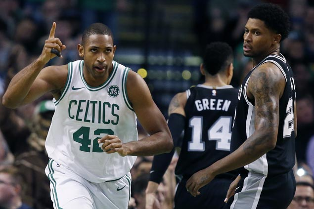 Celtics overcome Spurs to make it five straight victories