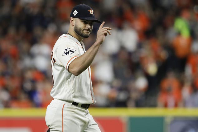 Pressure on for Lance McCullers as Astros hand him the ball for Game Seven
