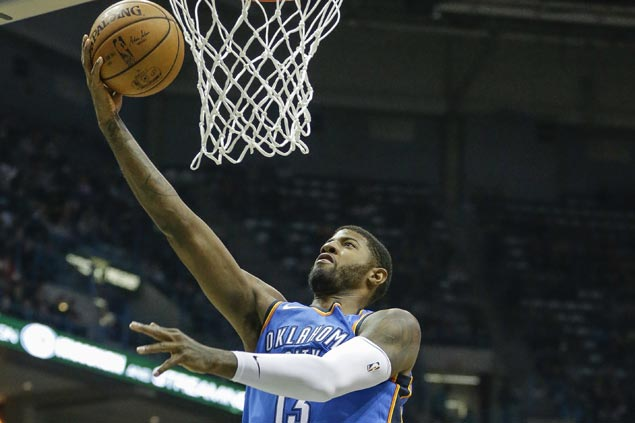 Paul George shows way as Thunder ease to victory over cold-shooting Bucks