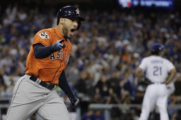 With record-tying five homers, George Springer bags World Series MVP award