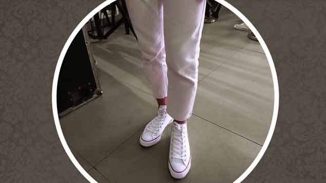 What's the best pants to pair with iconic white Chucks? Let this be your guide