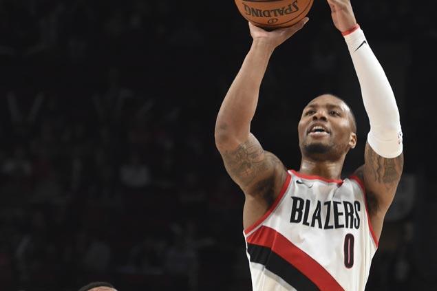 Damian Lillard nails game-winning trey as Blazers stun Lakers to snap two-game skid