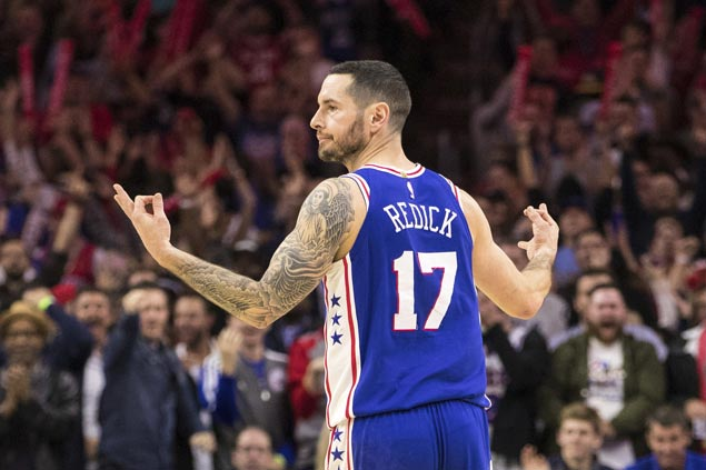 JJ Redick hits eight of 76ers' 18 triples in big win over Pacers
