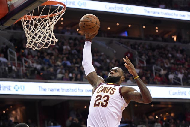 LeBron James scores season-high 57 as Cavs stop the bleeding with victory over Wizards