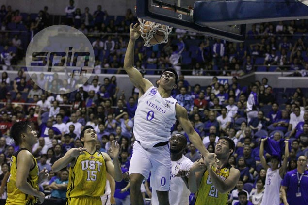 Thirdy Ravena richer by P3K in friendly bet with dad Bong after stunning slam