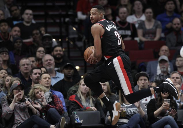 Blazers outplay Thunder as Carmelo Anthony is ejected for elbowing Jusuf Nurkic