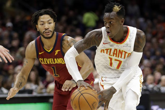 Injury-riddled Hawks arrest eight-game slide as Cavaliers stumble anew