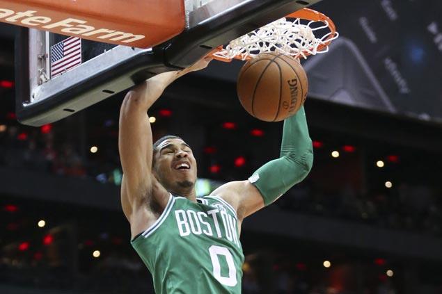 Kyrie Irving scores season-high 35 as Celtics send Hawks crashing back to earth, stretch streak to nine