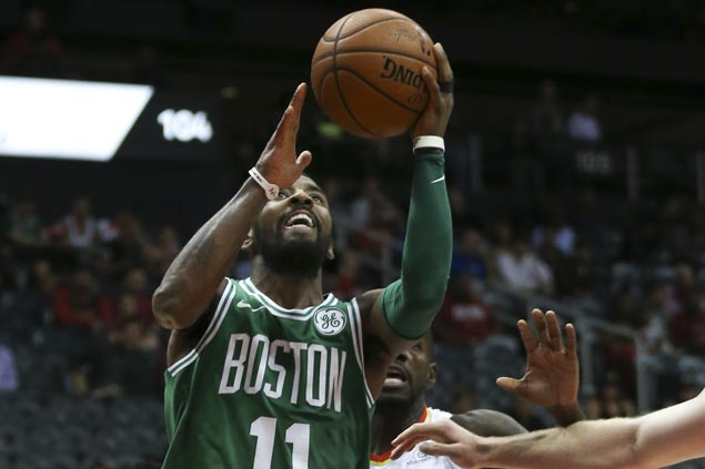 Kyrie Irving caps comeback from 17 points down to stun Warriors as Celtics win 14 in a row