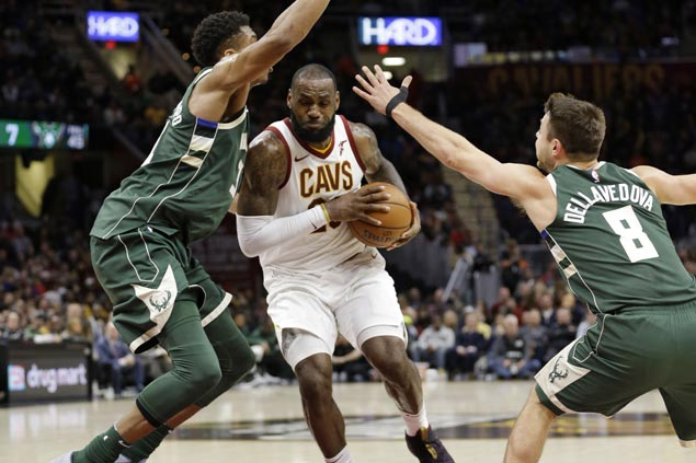 Cavaliers hold off Bucks and spoil Giannis Antetokounmpo's 40-point night