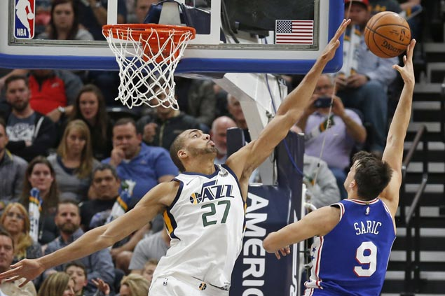 Double-doubles by Saric, Covington, Simmons power Embiid-less 76ers past Jazz