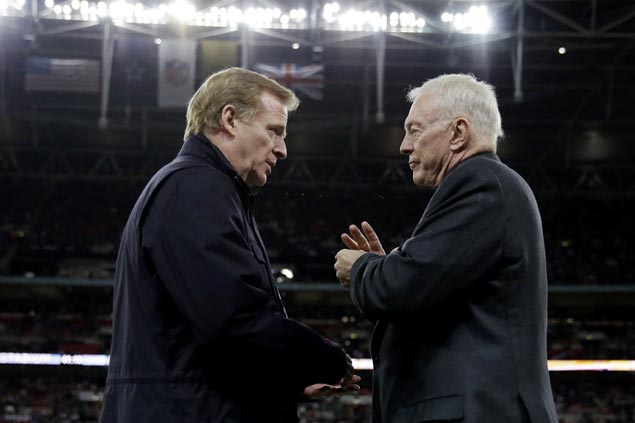 Cowboys owner Jerry Jones threatens suit vs NFL for proposed extension of commissioner Goodell