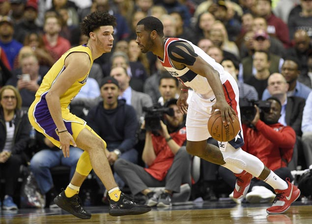 John Wall and Wizards get back on track, get back at Lakers as Lonzo Ball struggles