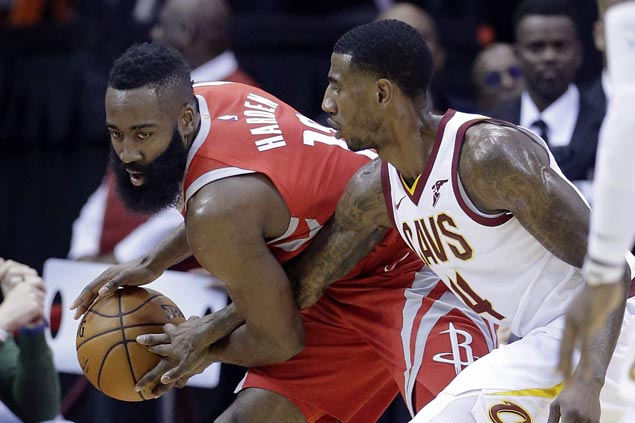 Rockets squander big early lead but recover to beat Cavaliers