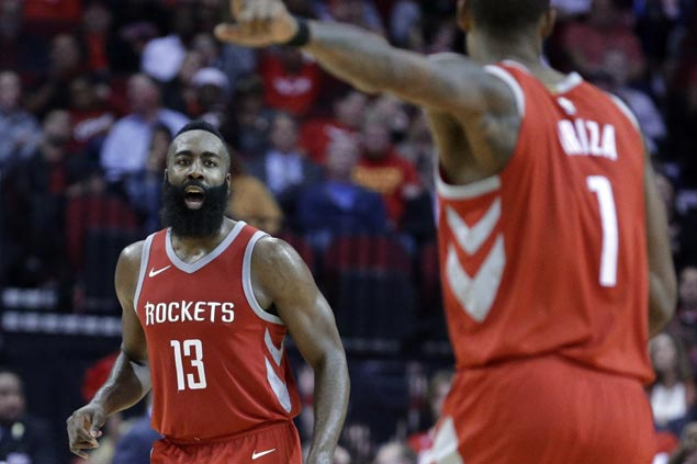 James Harden and Rockets sustain fine play, while woes continue for LeBron's Cavaliers