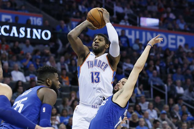 Paul George comes up with biggest game with Thunder, scores 42 in big win over Clippers