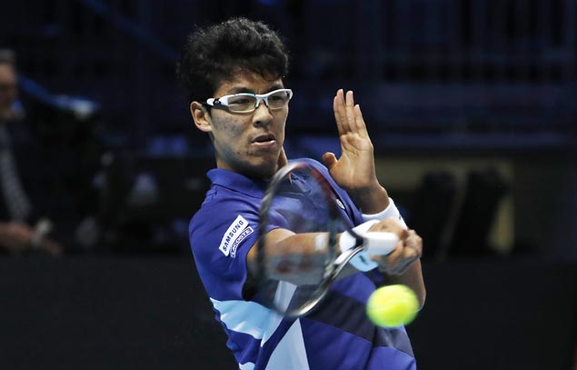 Hyeon Chung recovers from a set down to beat top seed Andrey Rublev in ATP Next Gen Finals