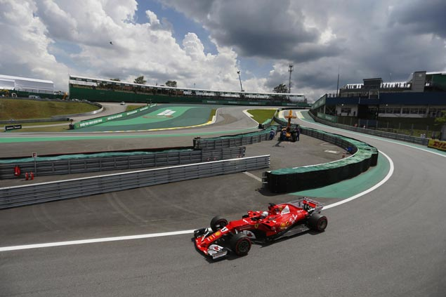 Sebastian Vettel wins Brazilian Grand Prix for the third time