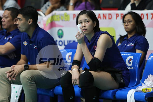 Mika Reyes shrugs off cut under left eye in intense Petron win over Foton