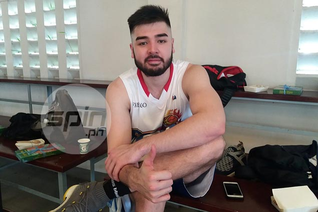 Andre Paras working out with Rain or Shine, but insists he's not ready to turn pro