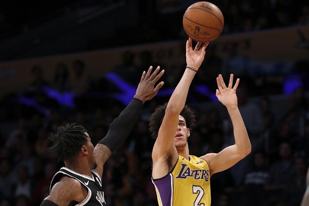 No plan to change Lonzo Ball's 'strange' shooting stroke, says LA coach Luke Walton