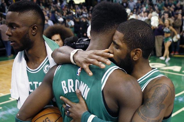 Grieving Jaylen Brown inspires Celtics' stunning comeback win over Warriors