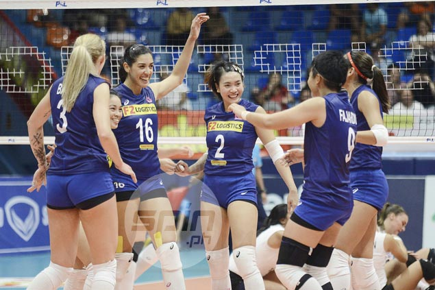 Super Liga Grand Prix leader F2 stakes unblemished slate against Cignal
