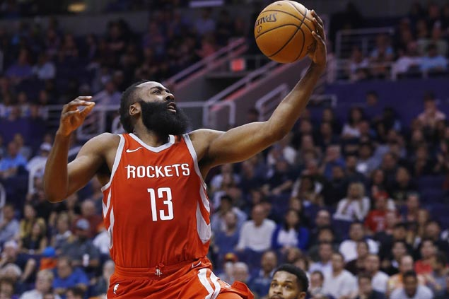 James Harden erupts for 48 in Chris Paul's return as Rockets rout skidding Suns