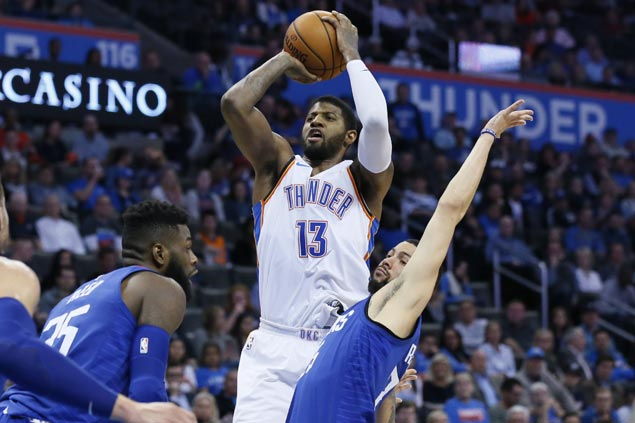 Paul George finally finding rhythm after rough start with new Thunder teammates