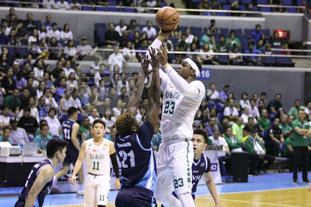 La Salle overcomes double-digit deficit to ground Adamson Falcons, book return to finals