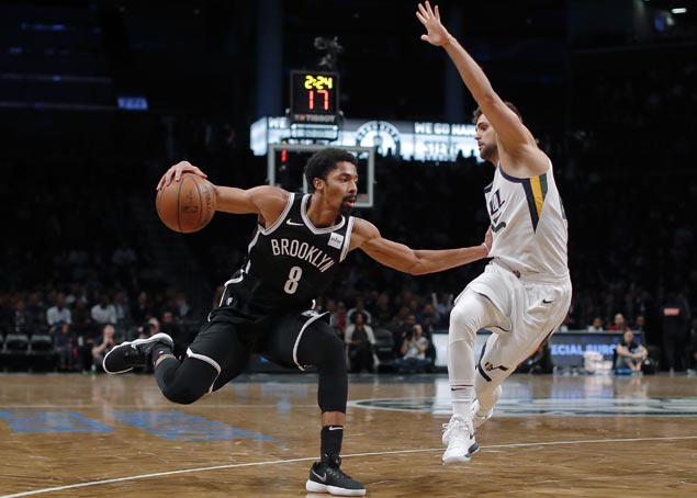 Spencer Dinwiddie takes charge as Nets, without D'Angelo Russell, overcome Jazz
