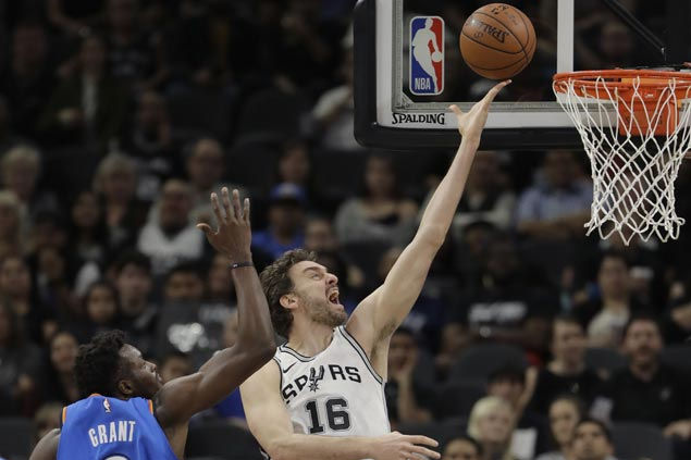Spurs fight back from 23 points down to beat OKC Thunder