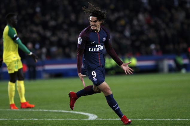 Edinson Cavani nets brace as Ligue 1 leader PSG overcomes slow start to beat Nantes
