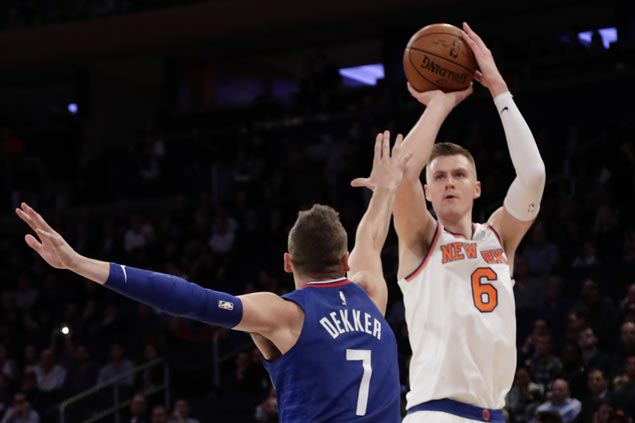Kristaps Porzingis leads way as Knicks beat Clippers for the first time in over five years