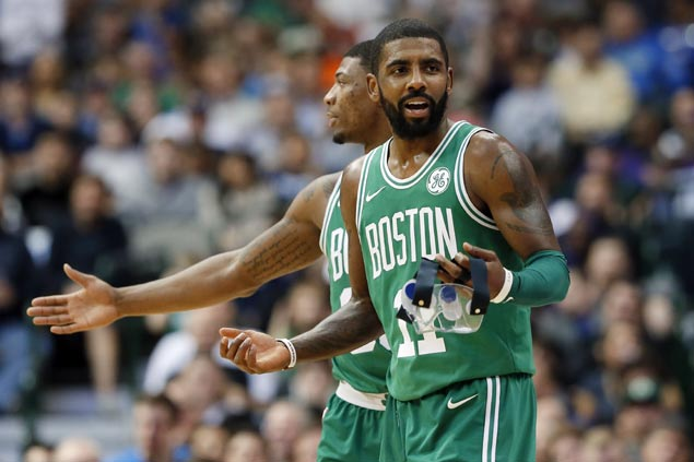 Danny Ainge after Kyrie Irving's 47-point explosion: 'Maybe the world is flat'