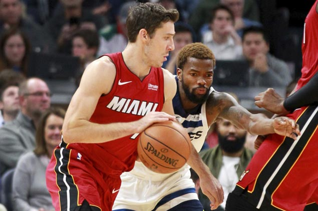 Heat nail season-high 19 three-pointers in rout of Timberwolves