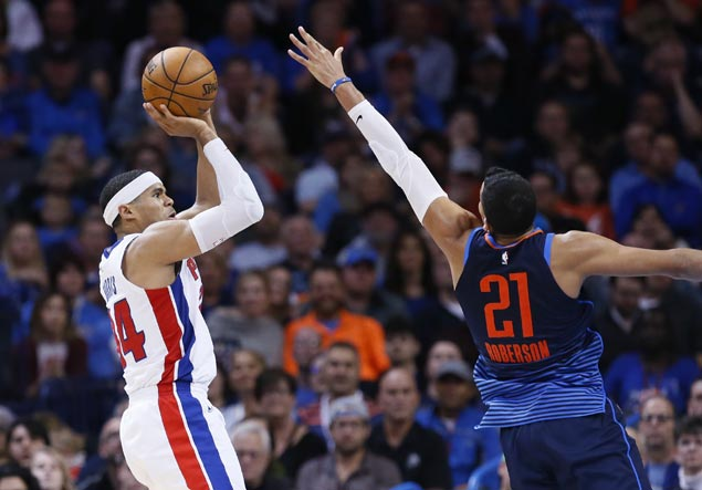 Pistons fight back from 15 points down to beat Thunder and spoil Westbrook's triple-double