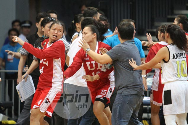 UE Lady Warriors seal finals battle vs Lady Bulldogs after fight-marred win over UST Tigresses