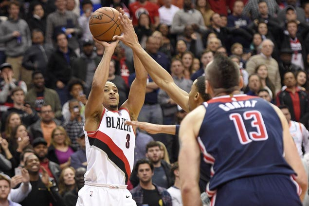 Trail Blazers erase 17-point deficit in fourth quarter to beat undermanned Wizards